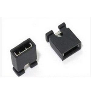 100 Pezzi 2.0 mm single row pin jumper cap, short circuit blocks, connecting blocks