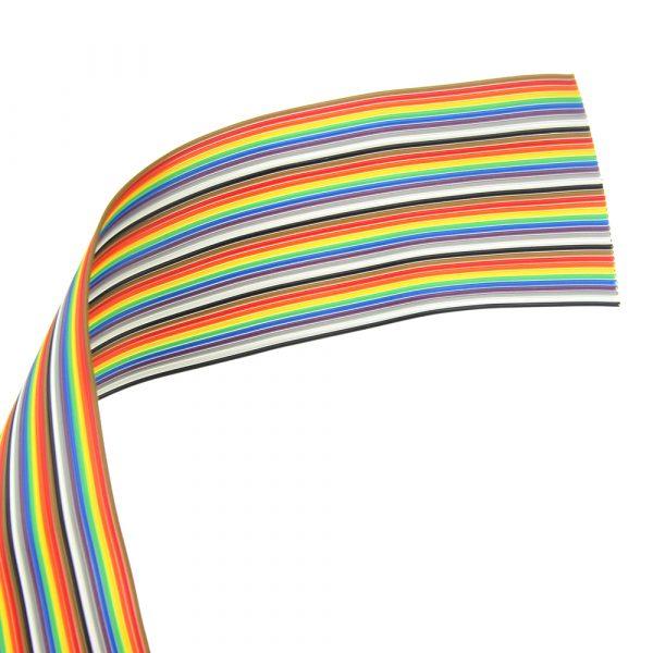 1 Metro Fascia 40 Pins Cavo Rainbow Multicolore Passo 1.27mm