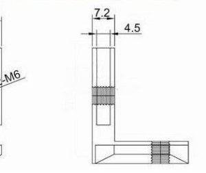 3030 European Size Corner slot Connettore