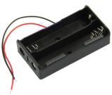 2X18650 contenitore batterie