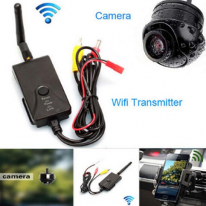 Fochtech wired / wireless wi-fi real-time video Trasmettitore support IOS and Android, and a rear-view CCD Camera