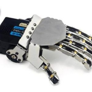 Left Robot hand-five fingers/Metal manipulator arm/Mini bionic hand/Humanoid robot arm/gripper/car accessories