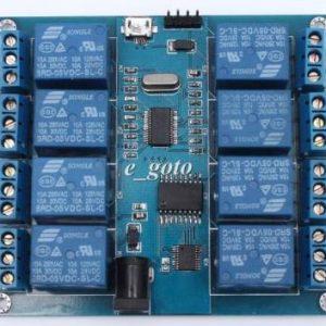Computer superiore modulo relè micro USB a 8 canali 5V 10A