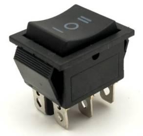 Interruttore rotondo KCD4 / interruttore nero / 6 pin 3 posizioni Interruttore 15A 250V